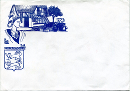 Enveloppe D'envoi Courrier - ''La Normandie'' (Recto-Verso) - Old Paper