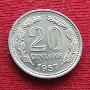 Argentina 20 Centavos 1957 KM# 55  Lt 489 Argentine - Argentine