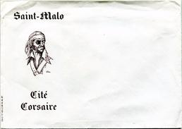 Enveloppe D'envoi Courrier - ''Saint-Malo'' (Cité Corsaire) (Recto-Verso) - Vieux Papiers