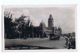 PAKISTAN - KARACHI - NEW MUNICIPAL OFFICE - RPPC POSTCARD 1920s/30s ( 1535 ) - Postcards