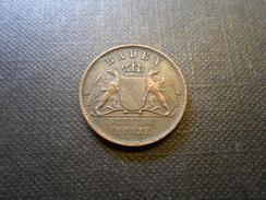 Baden-Durlach 1 Kreuzer 1863  Ku  Mz - Vz+ - Taler & Doppeltaler
