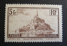 LOT D/1 - MONT SAINT MICHEL N°260a - NSG - VARIETE ☛ TRAIT INTERROMPU EN HAUT DU CLOCHER - Cote : 27,50 € - France