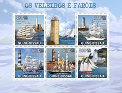 GUINE BISSAU 2009 SHEET FAROS PHARES FAROIS FARI LIGHTHOUSES SHIPS BOATS VOILIERS VELEIROS VELEROS Gb9503a - Guinea-Bissau