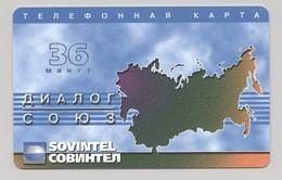 RUSSIA - SOVINTEL - Prepaid Card - 36 MIN - Plastic - - Russland