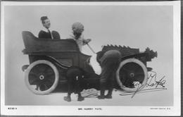 HARRY TATE ENGLISH COMEDIAN MUSIC HALL COMEDIANTE AUTOGRAPHE SUR CARTE POSTALE ROTARY PHOTOGRAPHIC SERIES DOS DIVISE - Autógrafos