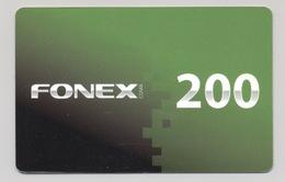 KYRGYZSTAN - FONEX - CDMA Prepaid Card - 200 SOM - Cardboard - - Kirghizistan