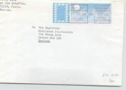 1986  Lettre Pour L'Angleterre Tarif 2,50fr Distributeur Paris 118 Rue D'Amsterdam - 1985 Papier «Carrier»