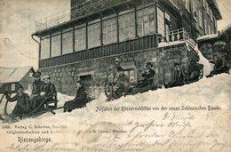 RIESENGEBIRGE  ABFAHRT DER HORNERSCHLITTEN VON DER NEUEN SCHLESISCHEN BAUDE 1901   Germany - Schlesien