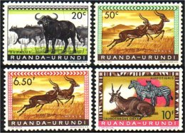 770 Ruanda Urundi Gazelles Buffles Buffalo MH * Neuf Ch (R-RUA-25)