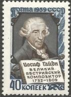 772 Russie 1959 Haydn Music Musique Composer Compositeur MH * Neuf CH (R-RUC-307)