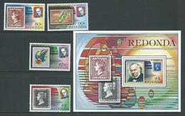 Redonda 1979 Rowland Hill Stamp Anniversary Set Of 4 & Miniature Sheet MNH