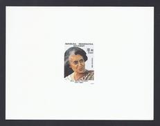 GANDHI INDIRA INDE INDIA INDIEN 1985 MADAGASCAR MADAGASKAR MALAGASY EPREUVE DE LUXE PROOF - India