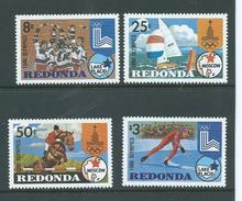 Redonda 1980 Olympics Lake Placid & Moscow Set Of 4 MNH ,  $3 With Gum Glaze