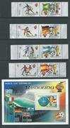 Redonda 1982 Spain Soccer World Cup Set Of 4 Pairs & Miniature Sheet MNH