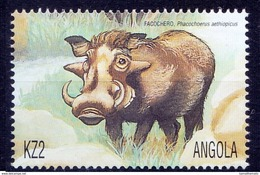Angola MNH, Desert Warthog Wild Animals