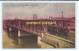 SANTA CRUZ BRIDGE, MANILA, PHILIPPINES. OLD POSTCARD  C.1910 #536. - Philippines