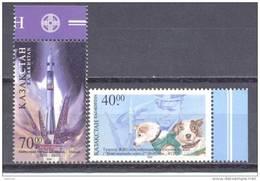 2001. Kazakhstan, Cosmonautics Day 2001, 2v, Mint/**