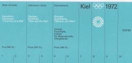 Olympic Games 1972 Ticket: Kiel Exposition Olympique L'homme Et La Mer (LAR5-12)