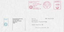 Germany Cover W/Machine Cancel Organisationskomitee Für Die Spiele Der XX. Olympade München P/m München 1972 (LAR5-12)