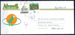 C13- Postal Used Cover. Posted From Pakistan To England. UK. Silver Jubilee Of Islamabad. Makli Tomb. - Pakistan