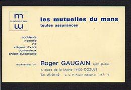 """Carte De Visite Publicitaire : Assurance """" Les Mutuelles Du Mans """" Roger Gaugain Agent à Dozulé (14) - Cartoncini Da Visita"""