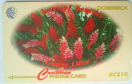EC$10 Ginger Lilies 138CDMA  With Slash C/n - Dominica
