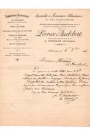 Vieille Lettre Specialités De Fermetures Silencieuses En Tole D'acier Ondulée Léonce Audebert Mussidan (dordogne) - France