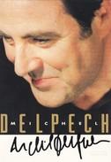 CHANTEUR---RARE---MICHEL DELPECH---dédicace--voir 2 Scans - Singers & Musicians