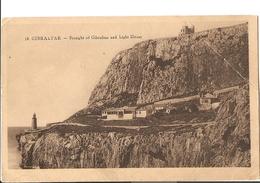 1-18-GIBRALTAR-STRIGHT OF GIBRALTAR AND LIGHT HOUSE - Gibilterra