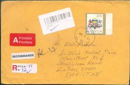 C58-  Postal Used Cover. Posted From Latvija To Pakistan - Latvia
