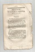 Recueil De La Préfecture De La CHARENTE , 1814 , Frais Fr : 1.95 Euros - Historical Documents