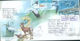 C67- Postal Used Cover. Posted From India To Pakistan. Birds. Animals - India