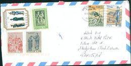 C75- Postal Used Cover. Posted From Italy To Pakistan - Italy