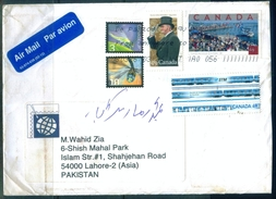 C94- Postal Used Cover. Posted From Canada To Pakistan. Insects. ATM Label Stamp. - Canada
