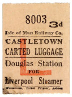 (I.B-CK) Isle Of Man Railway : Carted Luggage 3d (Liverpool Steamer)