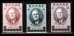 Grecia-F0190 - 1945 - Yvert & Tellier N. 518-520 (+) LH - Senza Difetti Occulti. - Grecia