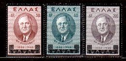 Grecia-F0191 - 1945 - Yvert & Tellier N. 518-520 (+) LH - Senza Difetti Occulti. - Grecia
