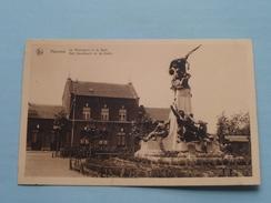 Het Monument En De Statie ( Mouvau ) Anno 19?? ( Zie Foto Details ) !! - Hamme