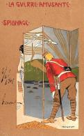 [DC10252] CPA - LA GUERRE AMUSANTE - SPIONAGE - FIRMATA - Viaggiata - Old Postcard - Illustratori & Fotografie