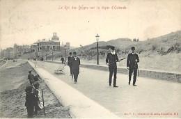 Ostende - Le Roi Léopold II Sur La Digue - Edit. V.G. - Oostende