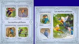 GUINEA REP. 2017 ** Kingfishers Eisvögel Martins-pecheurs M/S+S/S - OFFICIAL ISSUE - DH1721