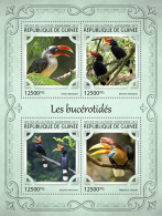 GUINEA REP. 2017 ** Hornbills Nashornvögel Calaos M/S - OFFICIAL ISSUE - DH1721