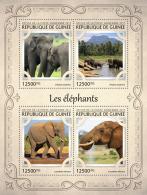 GUINEA REP. 2017 ** Elephants Elefanten M/S - IMPERFORATED - DH1721