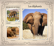 GUINEA REP. 2017 ** Elephants Elefanten S/S - IMPERFORATED - DH1721