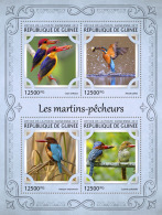 GUINEA REP. 2017 ** Kingfishers Eisvögel Martins-pecheurs M/S - IMPERFORATED - DH1721