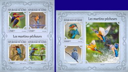GUINEA REP. 2017 ** Kingfishers Eisvögel Martins-pecheurs M/S+S/S - IMPERFORATED - DH1721