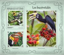 GUINEA REP. 2017 ** Hornbills Nashornvögel Calaos S/S - IMPERFORATED - DH1721