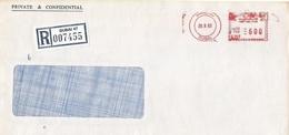 "United Arab Emirates UAE 1983 Dubai Meter Franking Pitney Bowes ""5000"" PB 195 Registered Cover - Verenigde Arabische Emiraten"