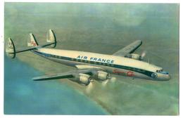 CPSM   AIR FRANCE      LOCKHEED SUPER G CONSTELLATION      LONG COURRIER LE PLUS PUISSANT RAPIDE ET LUXUEUX - 1946-....: Moderne