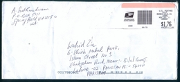 C102- Postal Used Cover. Posted From USA To Pakistan. - United States